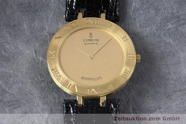 Used luxury watch Corum Romulus 18 ct gold quartz Kal. ETA 210001  | 140670 14