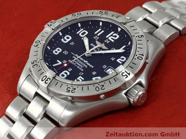 Used luxury watch Breitling Superocean steel automatic Kal. ETA 2824-2 Ref. A17345  | 140673 01