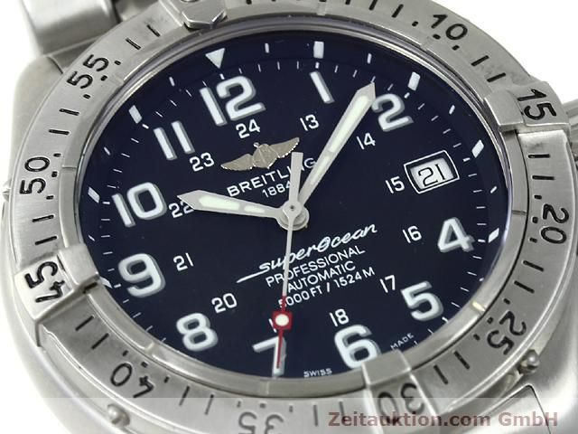Used luxury watch Breitling Superocean steel automatic Kal. ETA 2824-2 Ref. A17345  | 140673 02