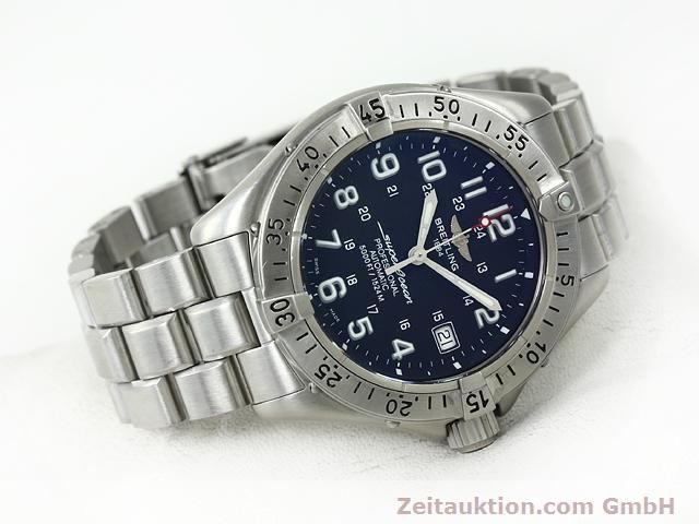 Used luxury watch Breitling Superocean steel automatic Kal. ETA 2824-2 Ref. A17345  | 140673 03