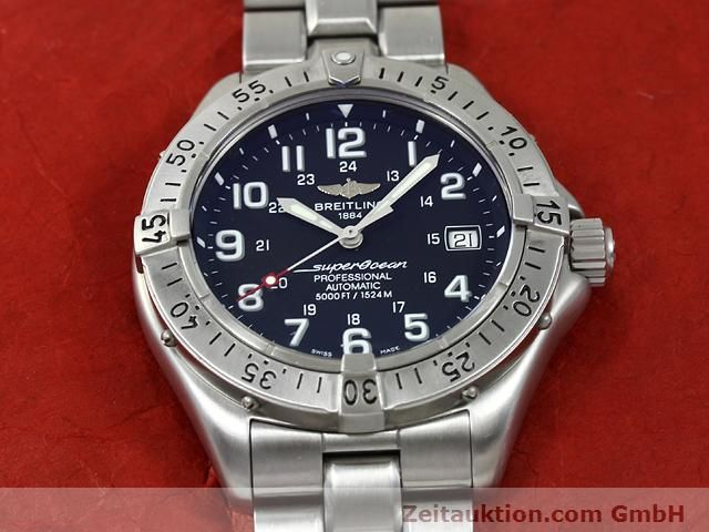 Used luxury watch Breitling Superocean steel automatic Kal. ETA 2824-2 Ref. A17345  | 140673 16
