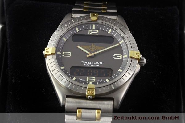 Used luxury watch Breitling Aerospace titanium / gold quartz Ref. 80360  | 140674 07