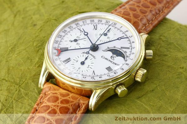 Used luxury watch Chronoswiss * gold-plated automatic Kal. ETA 7750 Ref. 77990  | 140677 01