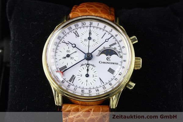 Used luxury watch Chronoswiss * gold-plated automatic Kal. ETA 7750 Ref. 77990  | 140677 07