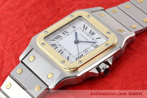 Used luxury watch Cartier Santos steel / gold automatic  | 140683 01