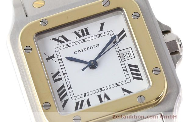 Used luxury watch Cartier Santos steel / gold automatic  | 140683 02