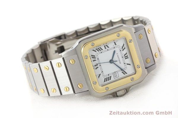 Used luxury watch Cartier Santos steel / gold automatic  | 140683 03