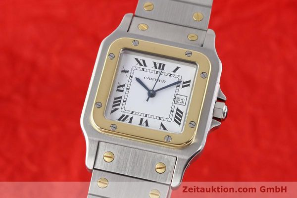 Used luxury watch Cartier Santos steel / gold automatic  | 140683 04