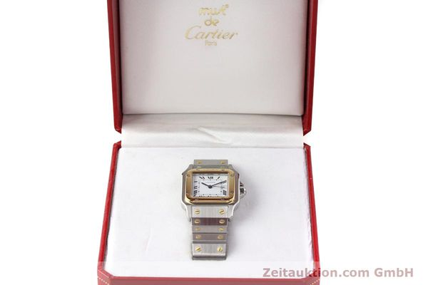 Used luxury watch Cartier Santos steel / gold automatic  | 140683 07