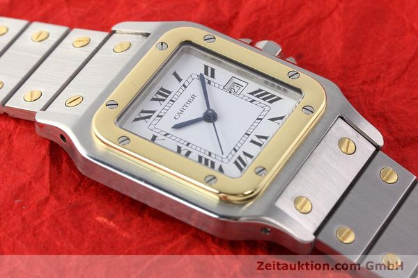 Used luxury watch Cartier Santos steel / gold automatic  | 140683 13