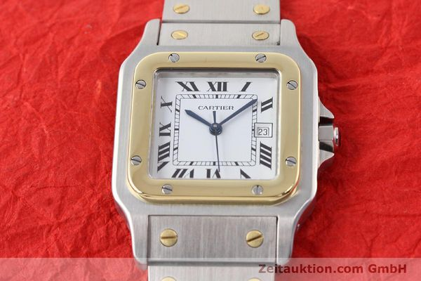 Used luxury watch Cartier Santos steel / gold automatic  | 140683 14