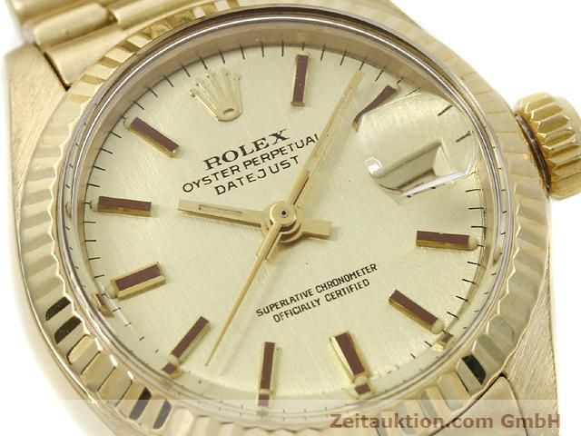 Used luxury watch Rolex Lady Datejust 18 ct gold automatic Kal. 2030 Ref. 6917  | 140685 02