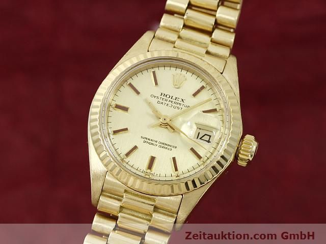Used luxury watch Rolex Lady Datejust 18 ct gold automatic Kal. 2030 Ref. 6917  | 140685 04