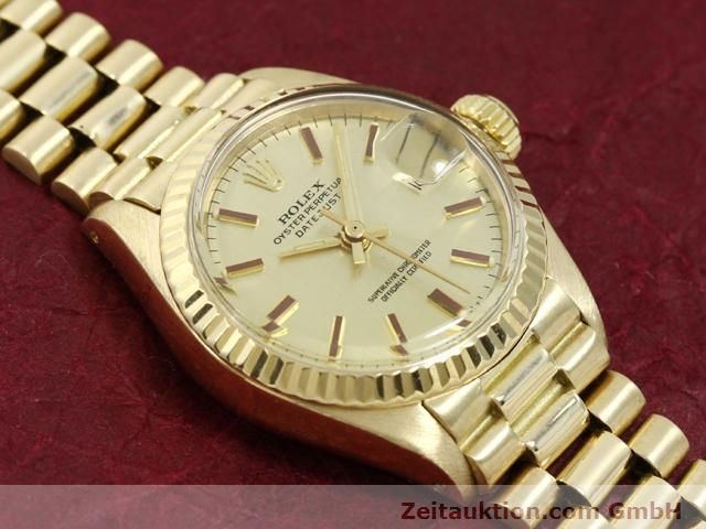 Used luxury watch Rolex Lady Datejust 18 ct gold automatic Kal. 2030 Ref. 6917  | 140685 13