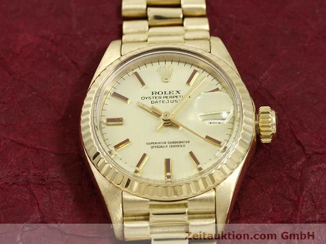 Used luxury watch Rolex Lady Datejust 18 ct gold automatic Kal. 2030 Ref. 6917  | 140685 14
