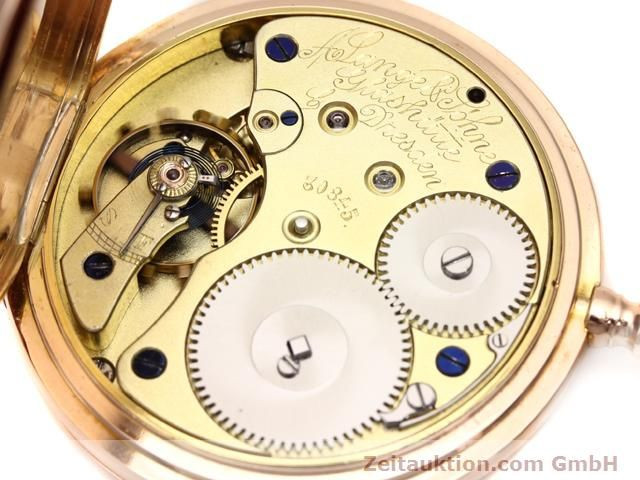 Used luxury watch A. Lange & Söhne ALS Taschenuhr 18 ct red gold manual winding  | 140694 10