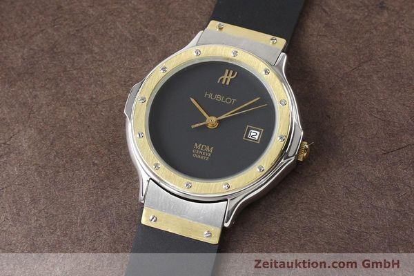 Used luxury watch Hublot MDM gilt steel quartz  | 140710 01