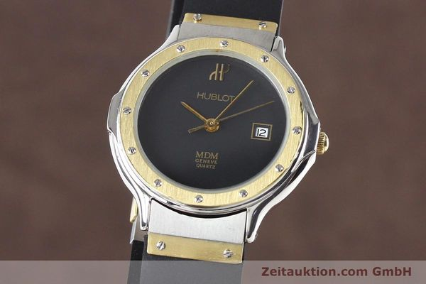 Used luxury watch Hublot MDM gilt steel quartz  | 140710 04