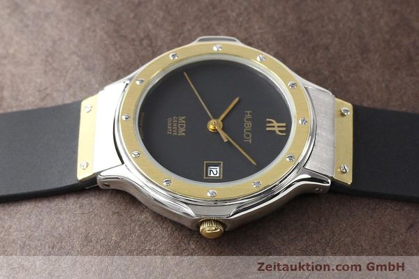 Used luxury watch Hublot MDM gilt steel quartz  | 140710 05