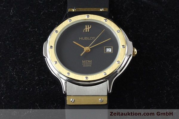 Used luxury watch Hublot MDM gilt steel quartz  | 140710 07