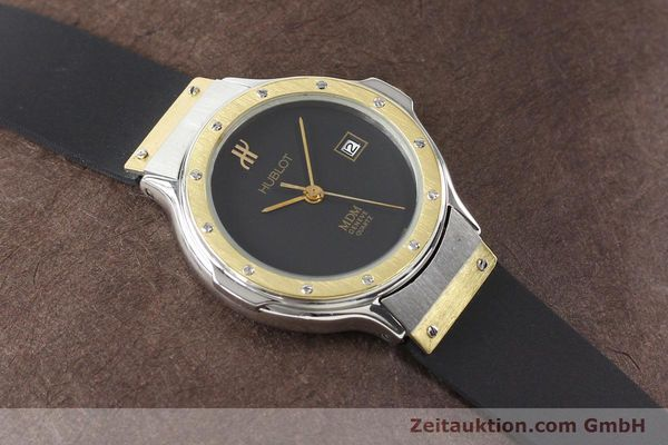 Used luxury watch Hublot MDM gilt steel quartz  | 140710 12