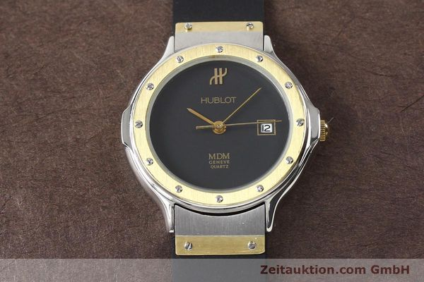 Used luxury watch Hublot MDM gilt steel quartz  | 140710 13