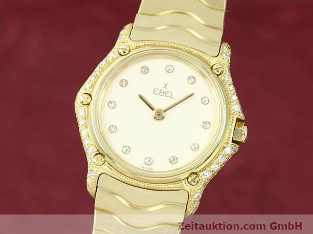 montre de luxe d occasion Ebel Classic Wave or 18 ct quartz Kal. 157 Ref. 866901  | 140711 04