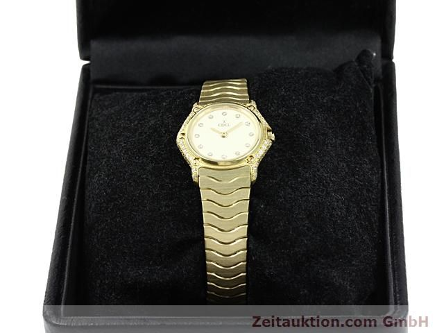 montre de luxe d occasion Ebel Classic Wave or 18 ct quartz Kal. 157 Ref. 866901  | 140711 07
