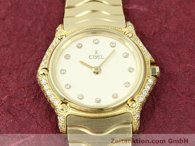 montre de luxe d occasion Ebel Classic Wave or 18 ct quartz Kal. 157 Ref. 866901  | 140711 12
