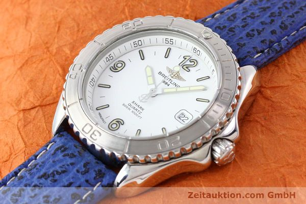 Used luxury watch Breitling Shark steel quartz Kal. ETA 955112 Ref. A58605  | 140715 01