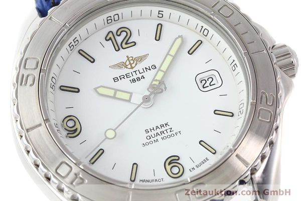 Used luxury watch Breitling Shark steel quartz Kal. ETA 955112 Ref. A58605  | 140715 02