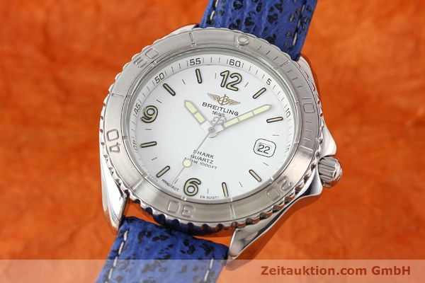 Used luxury watch Breitling Shark steel quartz Kal. ETA 955112 Ref. A58605  | 140715 04