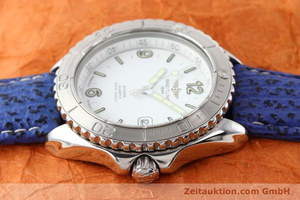 Used luxury watch Breitling Shark steel quartz Kal. ETA 955112 Ref. A58605  | 140715 05