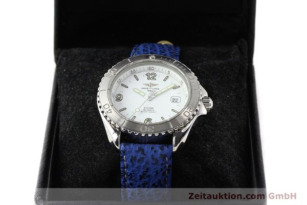 Used luxury watch Breitling Shark steel quartz Kal. ETA 955112 Ref. A58605  | 140715 07