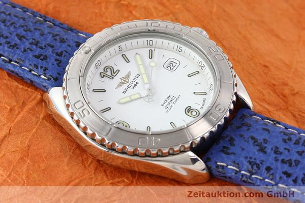 Used luxury watch Breitling Shark steel quartz Kal. ETA 955112 Ref. A58605  | 140715 12
