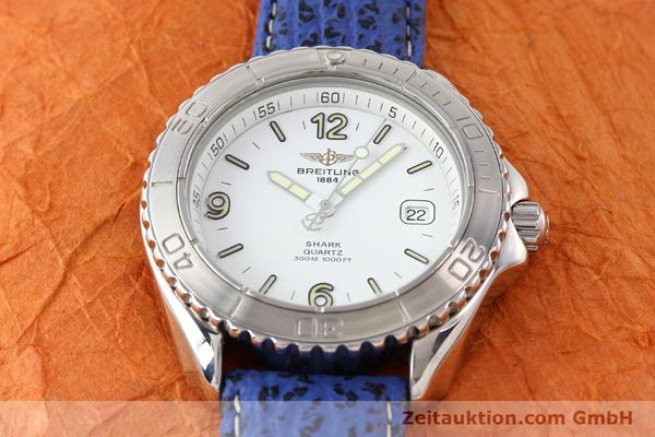 Used luxury watch Breitling Shark steel quartz Kal. ETA 955112 Ref. A58605  | 140715 13