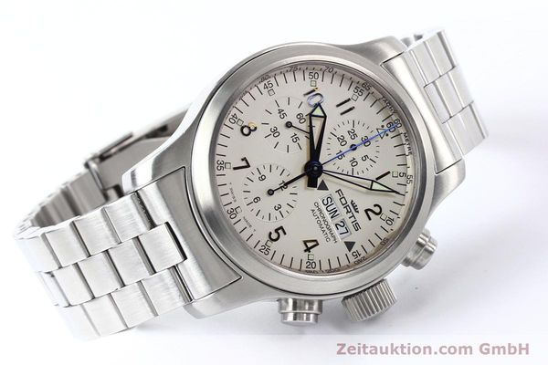Used luxury watch Fortis B42 steel automatic Kal. ETA 7750 Ref. 635.10.141  | 140721 03