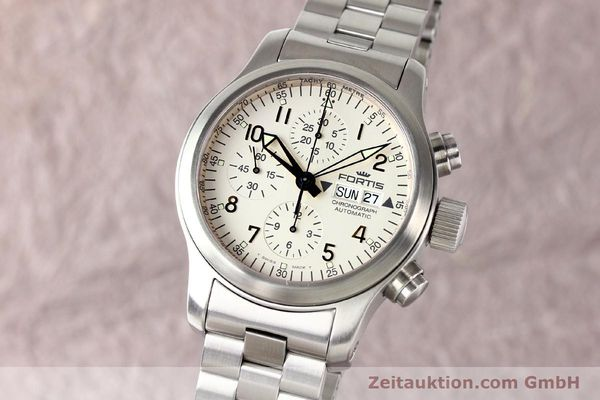 Used luxury watch Fortis B42 steel automatic Kal. ETA 7750 Ref. 635.10.141  | 140721 04