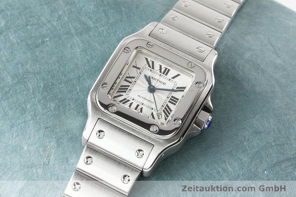 Used luxury watch Cartier Santos steel automatic  | 140724 01