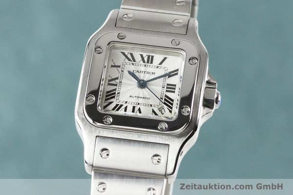 Used luxury watch Cartier Santos steel automatic  | 140724 04