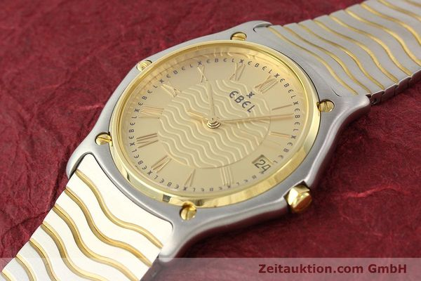 Used luxury watch Ebel Classic Wave steel / gold quartz Ref. E1187141  | 140739 01