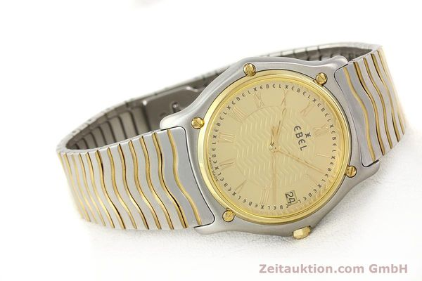 Used luxury watch Ebel Classic Wave steel / gold quartz Ref. E1187141  | 140739 03