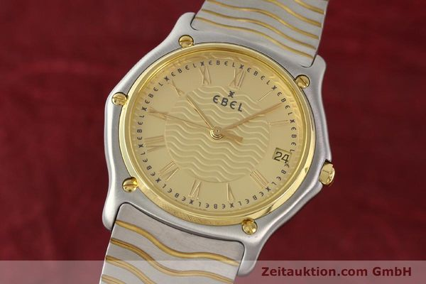Used luxury watch Ebel Classic Wave steel / gold quartz Ref. E1187141  | 140739 04
