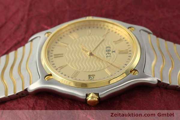 Used luxury watch Ebel Classic Wave steel / gold quartz Ref. E1187141  | 140739 05