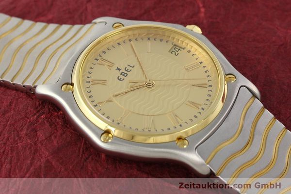 Used luxury watch Ebel Classic Wave steel / gold quartz Ref. E1187141  | 140739 13