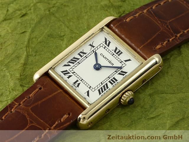 Used luxury watch Cartier Tank 18 ct gold quartz Kal. 157.06  | 140749 01