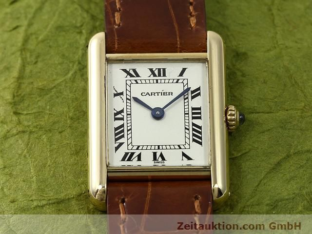 Used luxury watch Cartier Tank 18 ct gold quartz Kal. 157.06  | 140749 02
