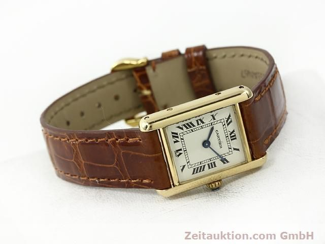 Used luxury watch Cartier Tank 18 ct gold quartz Kal. 157.06  | 140749 03