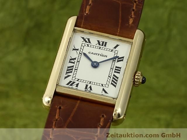 Used luxury watch Cartier Tank 18 ct gold quartz Kal. 157.06  | 140749 04