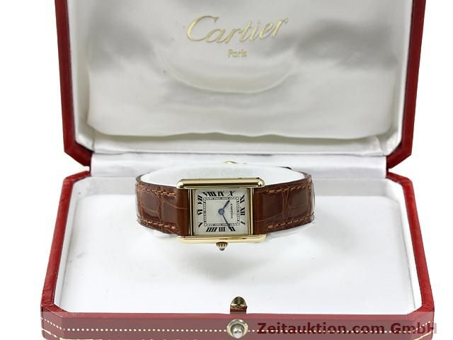 Used luxury watch Cartier Tank 18 ct gold quartz Kal. 157.06  | 140749 07
